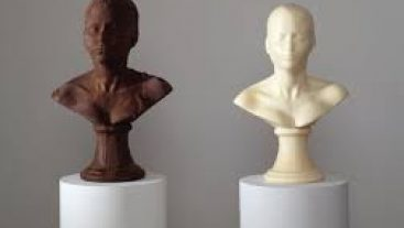 chocolate bust portrait